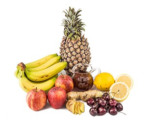 Common home remedy to treat gout inflammation - Cherries, Lemon Juice, Apple Cider Vinegar, Banana, Pineapple, Ginger Roots.
